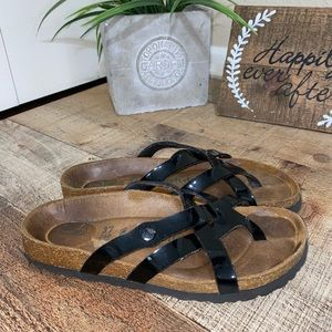 Betula by Birkenstock Vinja Patent Black Sandals